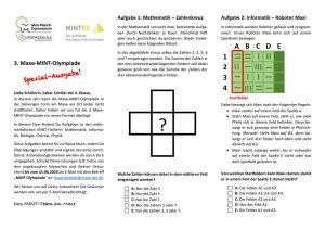 Maxe_MINT-Olympiade_Flyer