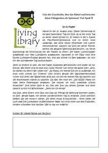 thumbnail of Rätsel der Living Library