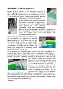thumbnail of Workshop X-Genetik Bericht Jantje Pape